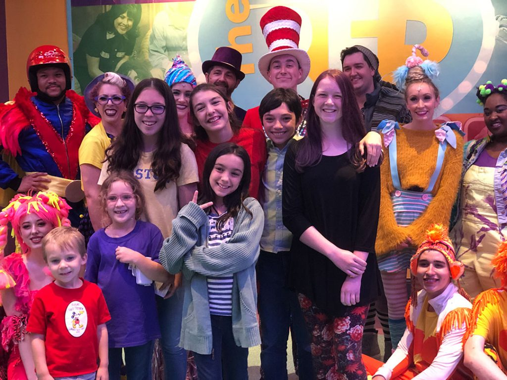 How Using Theater to Teach Your kids works bunch of kids with cast of Seussical